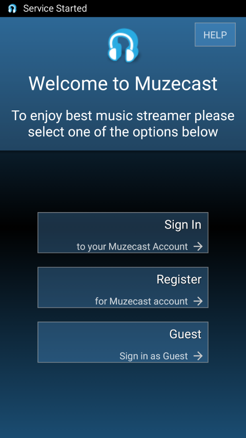 Sign in selection